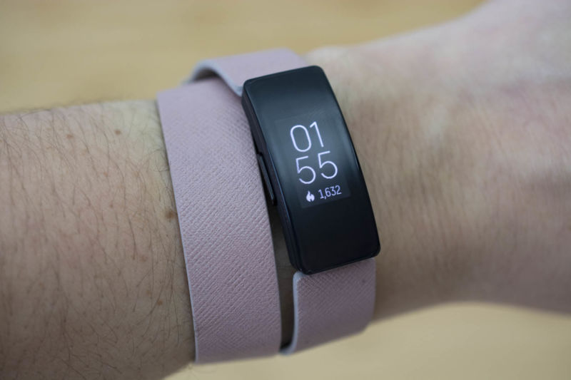 Fitbit's Inspire HR fitness tracker on a wrist.