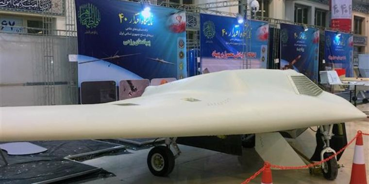 "photo image Iran pumps up ""massive"" offensive exercise with as many as 50 drones"
