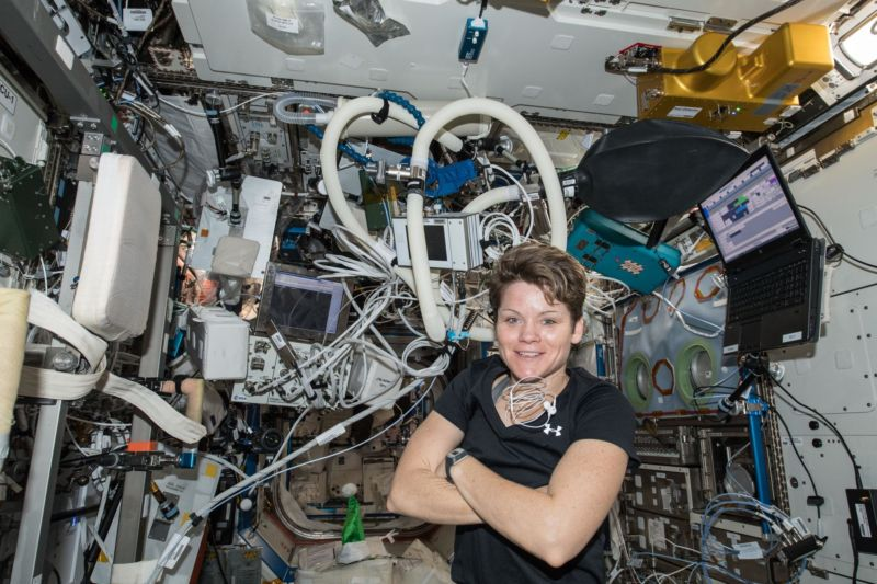 NASA astronaut Anne McClain needs to use a smaller spacesuit.
