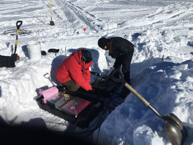 When the gauge tackle  for maintaining your physics experiment includes a snow shovel...