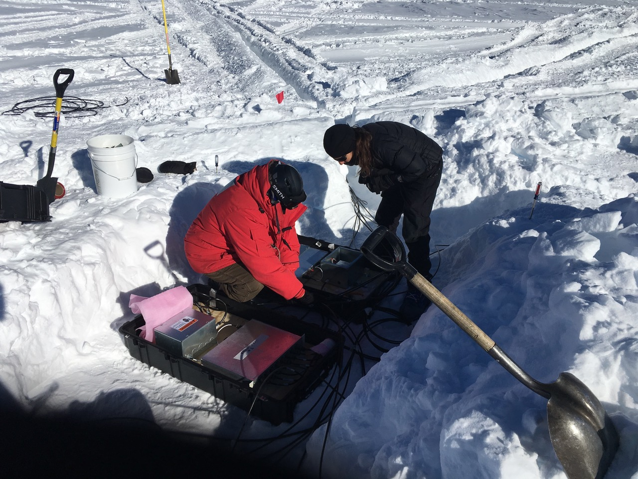 When the standard equipment for maintaining your physics experiment includes a snow shovel...