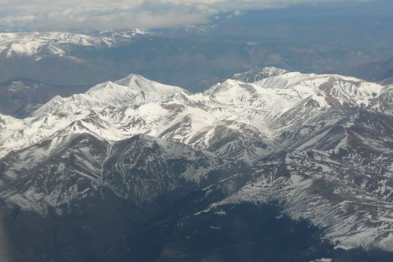 The Pyrenees Mountains, now with microplastics.