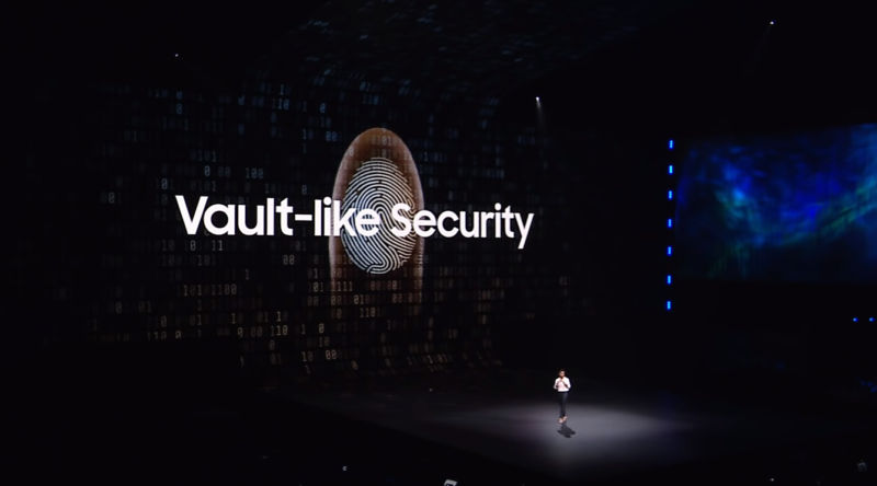 A slide from Samsung's Galaxy S10 launch.