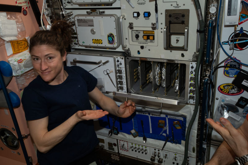 There will be a lot of pizza nights for Christina Koch, NASA's newest extended-stay astronaut.