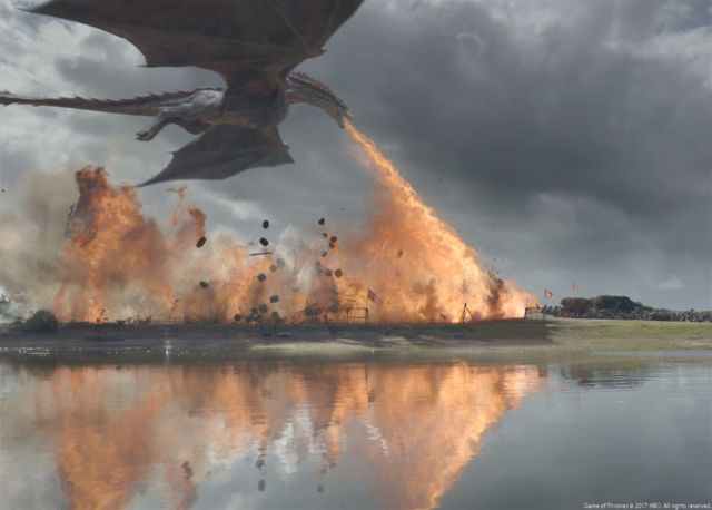 Such a brief moment of beautiful chaos, such a large amount of intensive practical effects work.