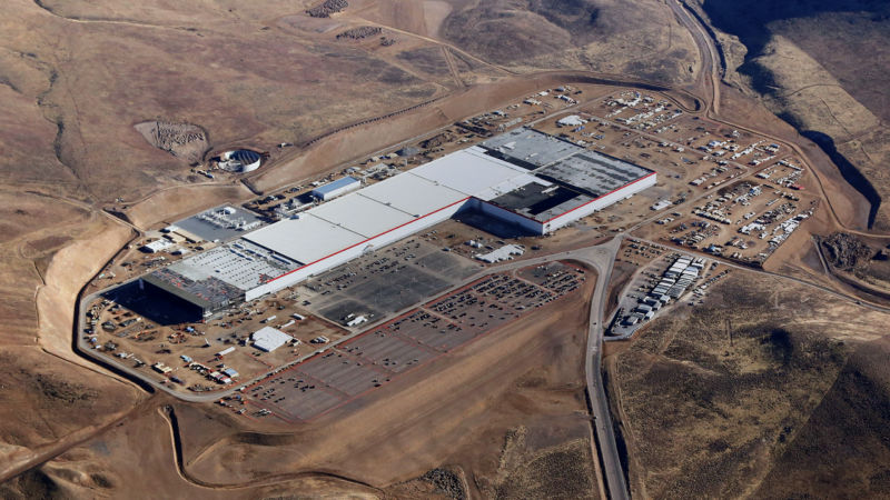 The Gigafactory in Sparks, Nevada, as seen in 2017.