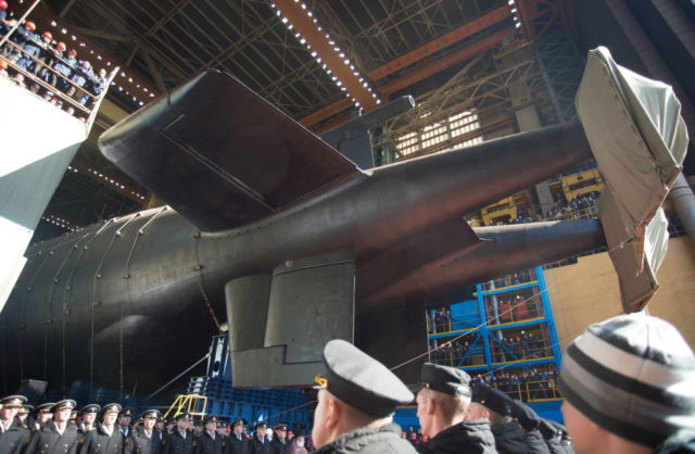 Russia launches sub that will carry doomsday nuke drone