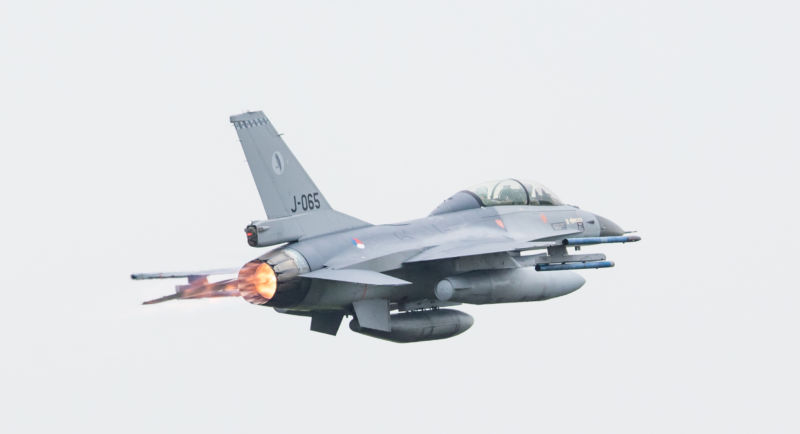 A Dutch Air Force F-16 had a close encounter with its own cannon shells in January.