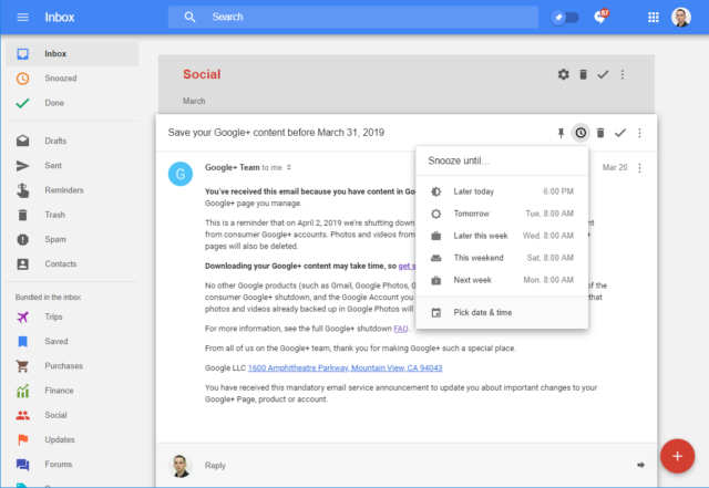 Here lies Google Inbox, a radical rethink of how email