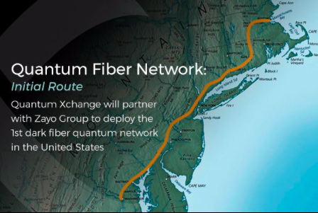 A look at the route for Quantum XChange's fiber network.