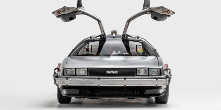 Check out Batman's and Marty McFly's rides at the Petersen Museum