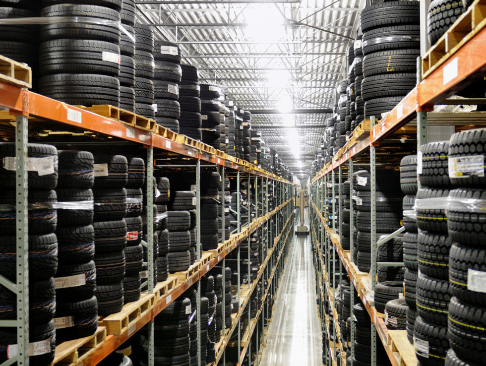 A look inside Tire Rack's warehouse in Indiana.