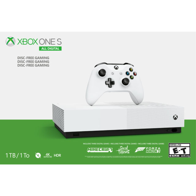 One month later, $249 All-Digital Xbox One S still seems