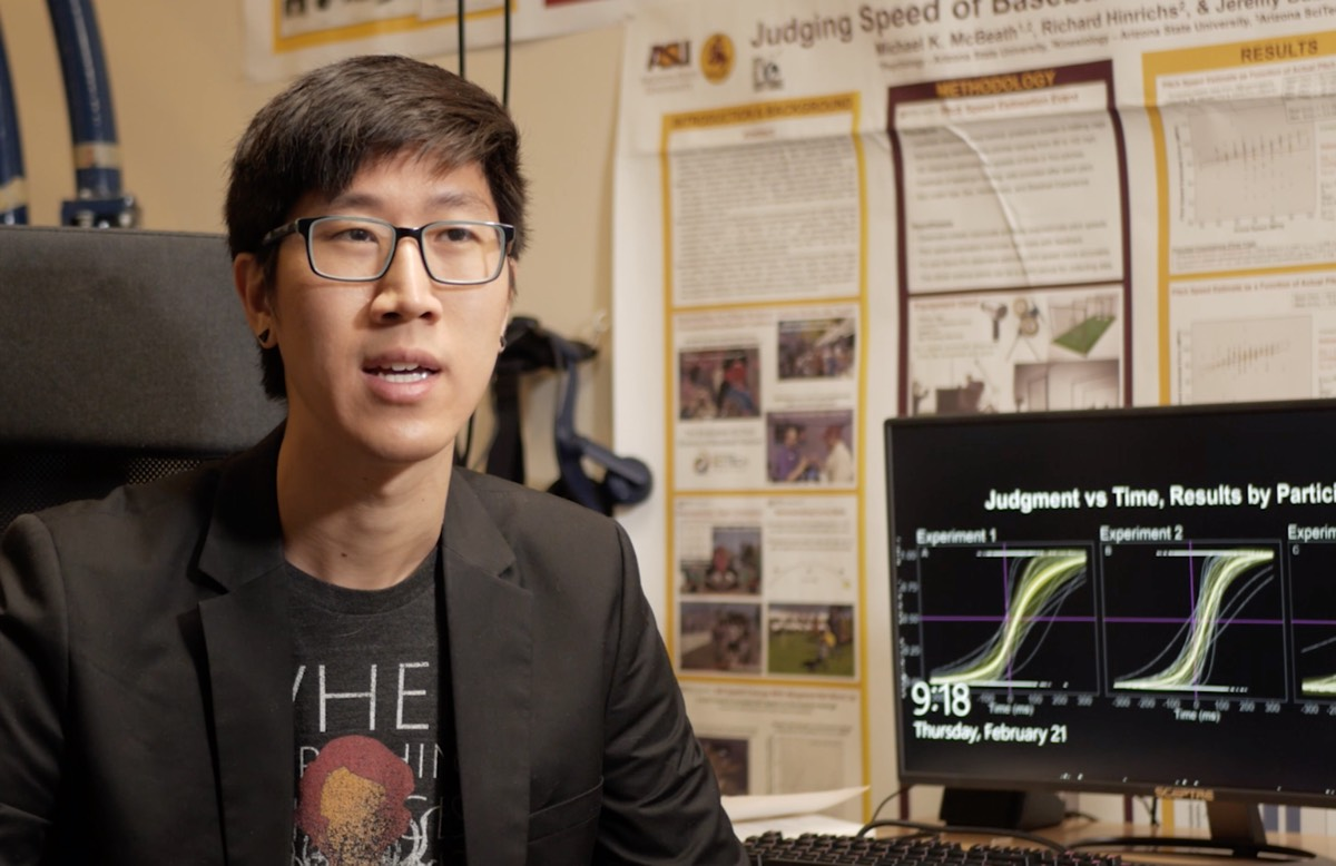 Ty Tang, a graduate student in psychology at Arizona State University, designed an experiment to study temporal bias.