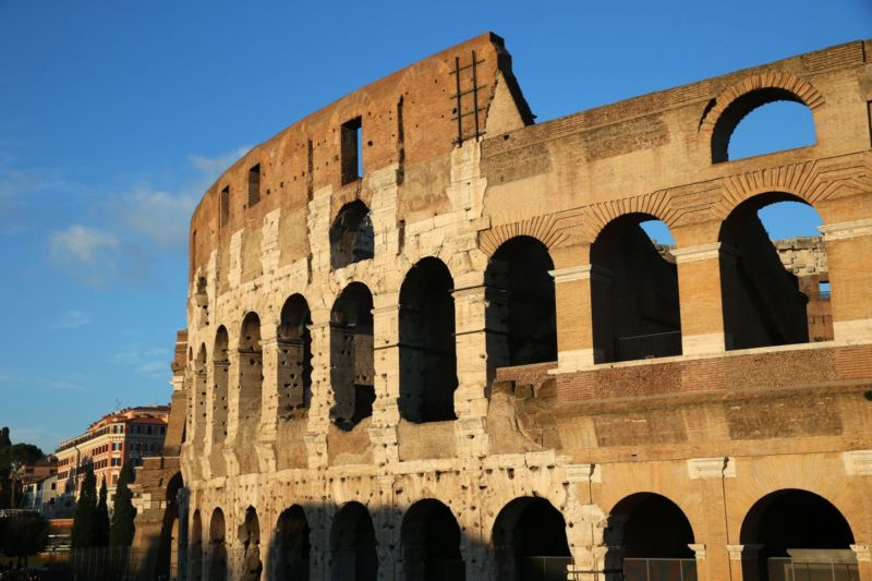 The Roman Colosseum is an oval amphitheatre in the center of the city of Rome. French scientists suggest its structure might have helped protect it from earthquake damage.