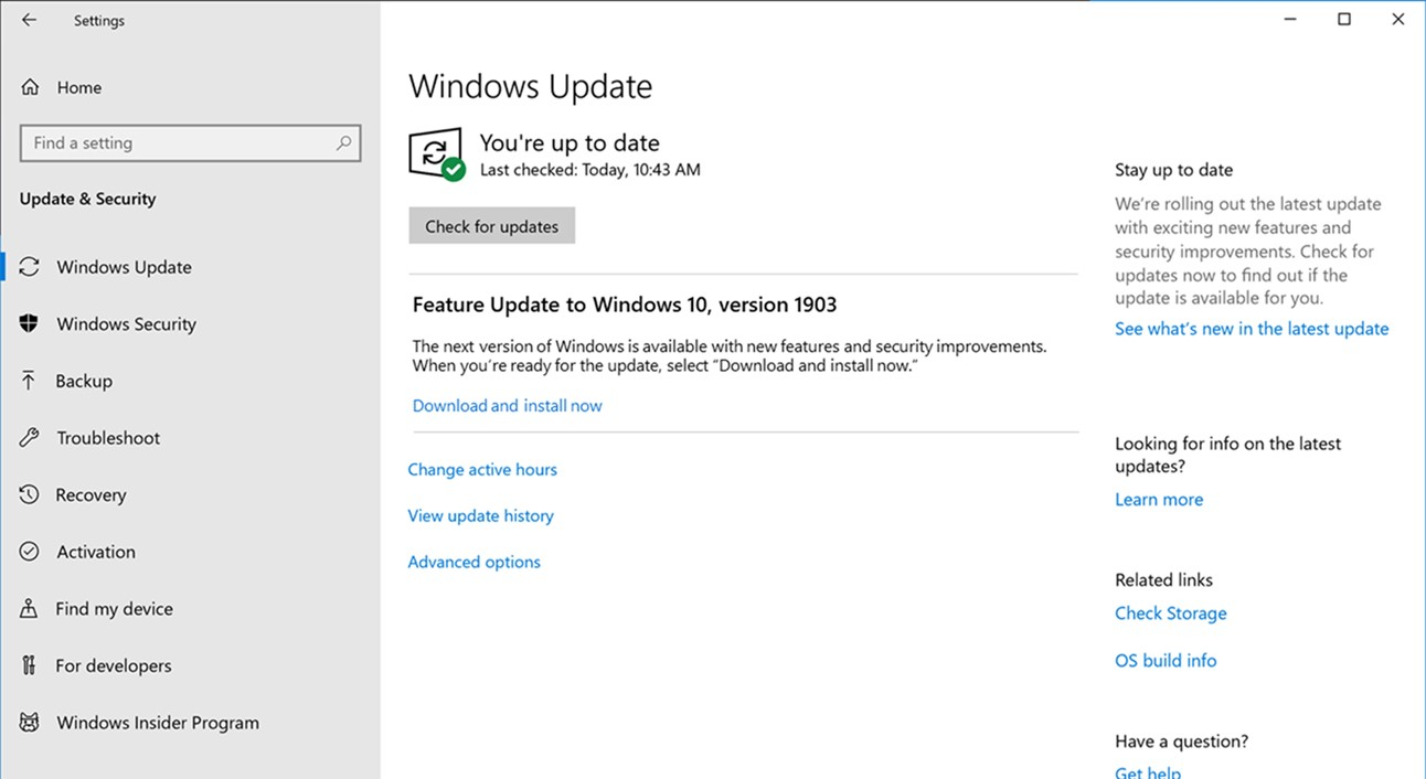 With a separate option to download and install the feature update, Windows Update should become much less surprising.