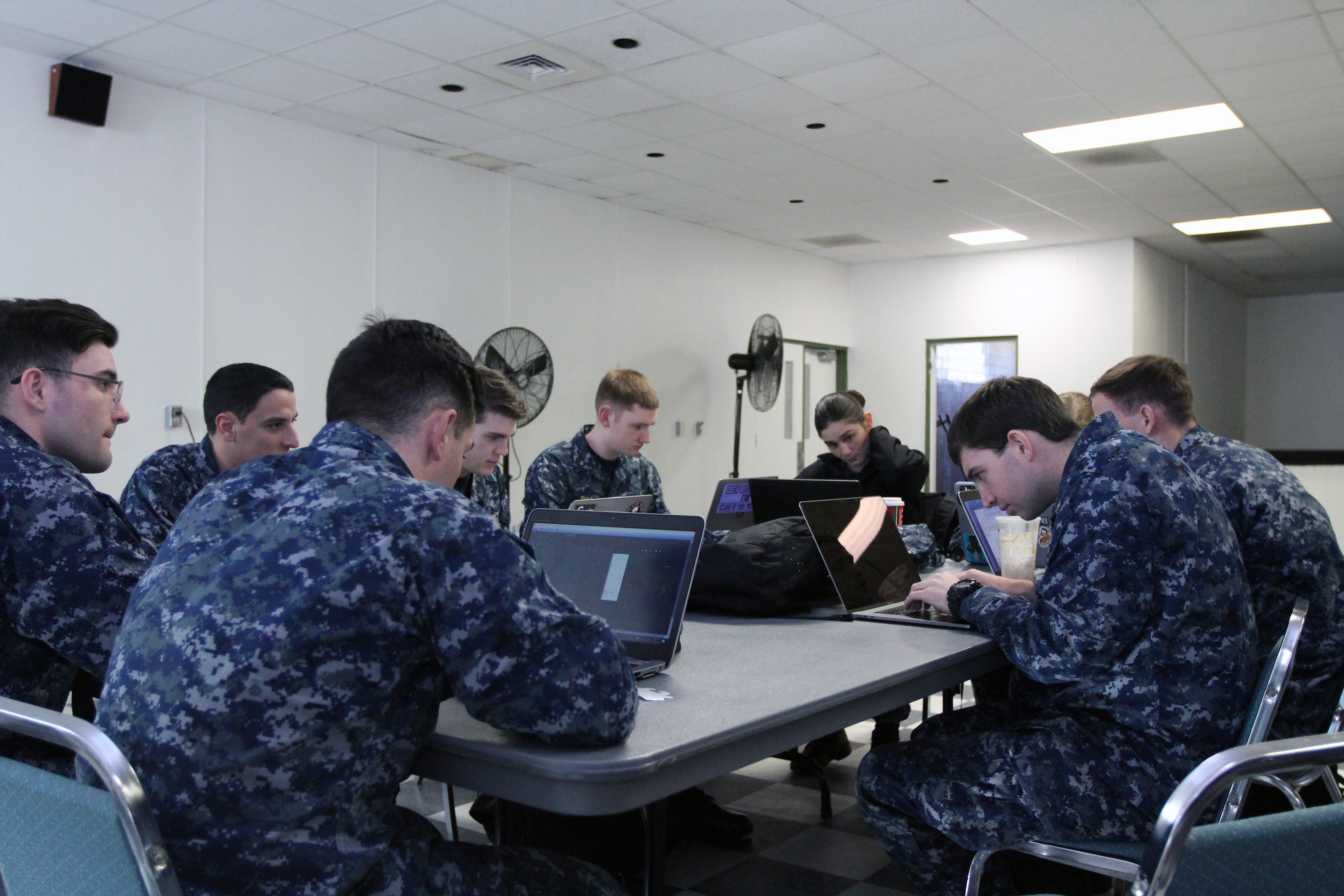 """Midshipmen from the US Naval Academy in Annapolis participated in a """"Capture the Flag"""" event during AvengerCon III."""