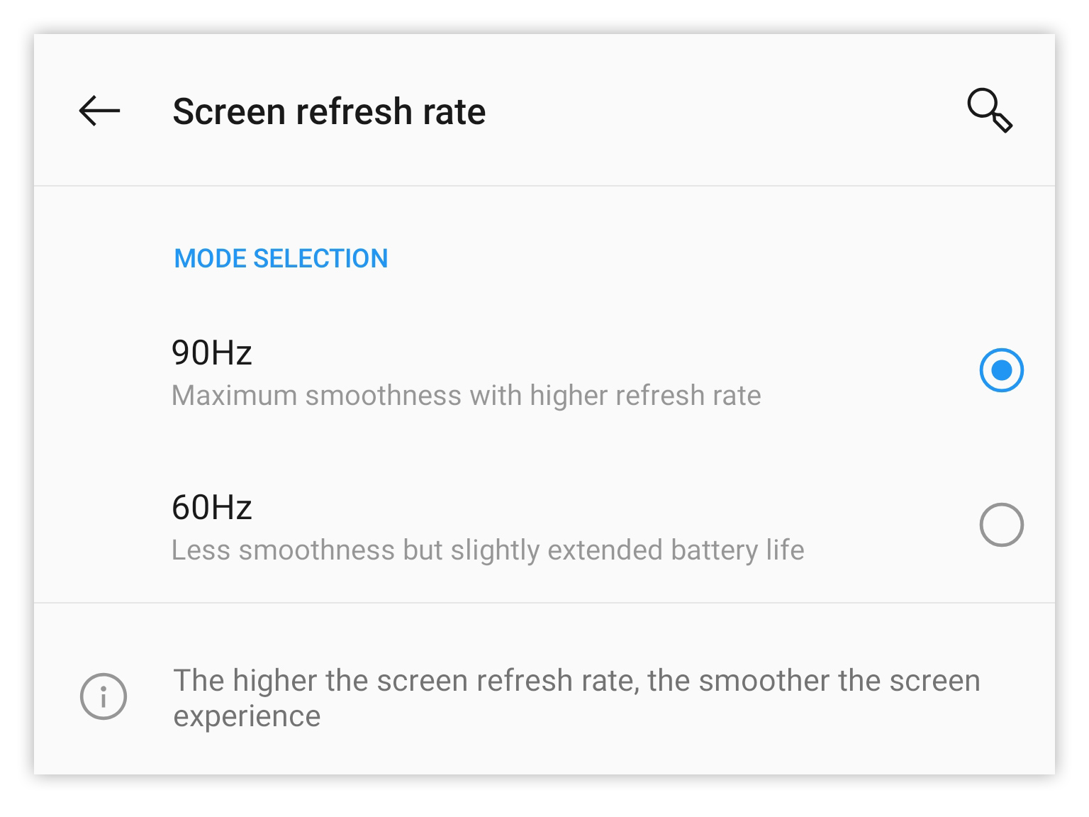 Silky-smooth interface or a bit more battery life? You get to pick.
