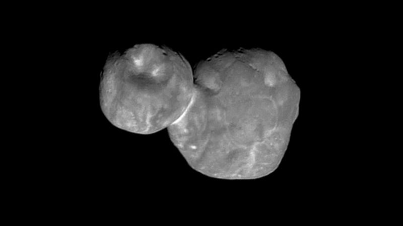 Image of the Kuiper Belt Object, showing its two distinct lobes.