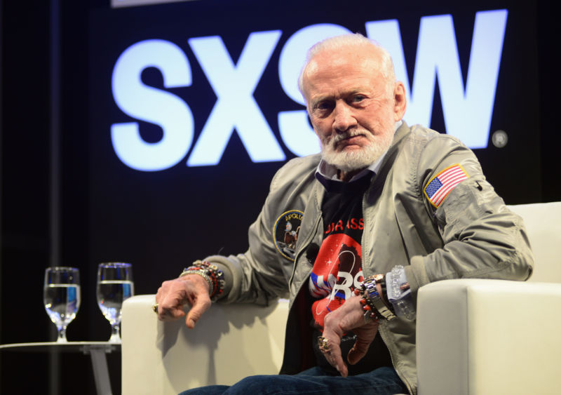 Buzz Aldrin wants NASA to go somewhere.
