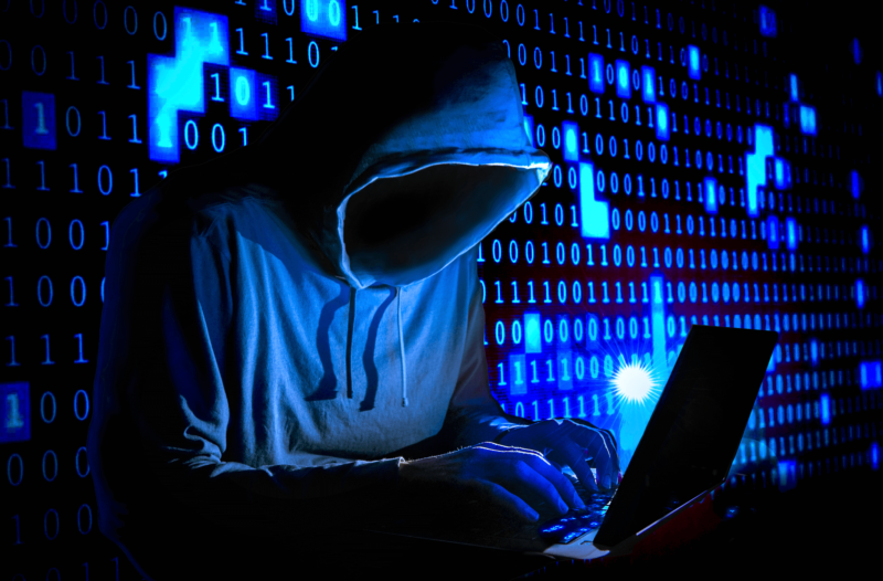 Artist's impression of a malicious hacker coding up a BlueKeep-based exploit.