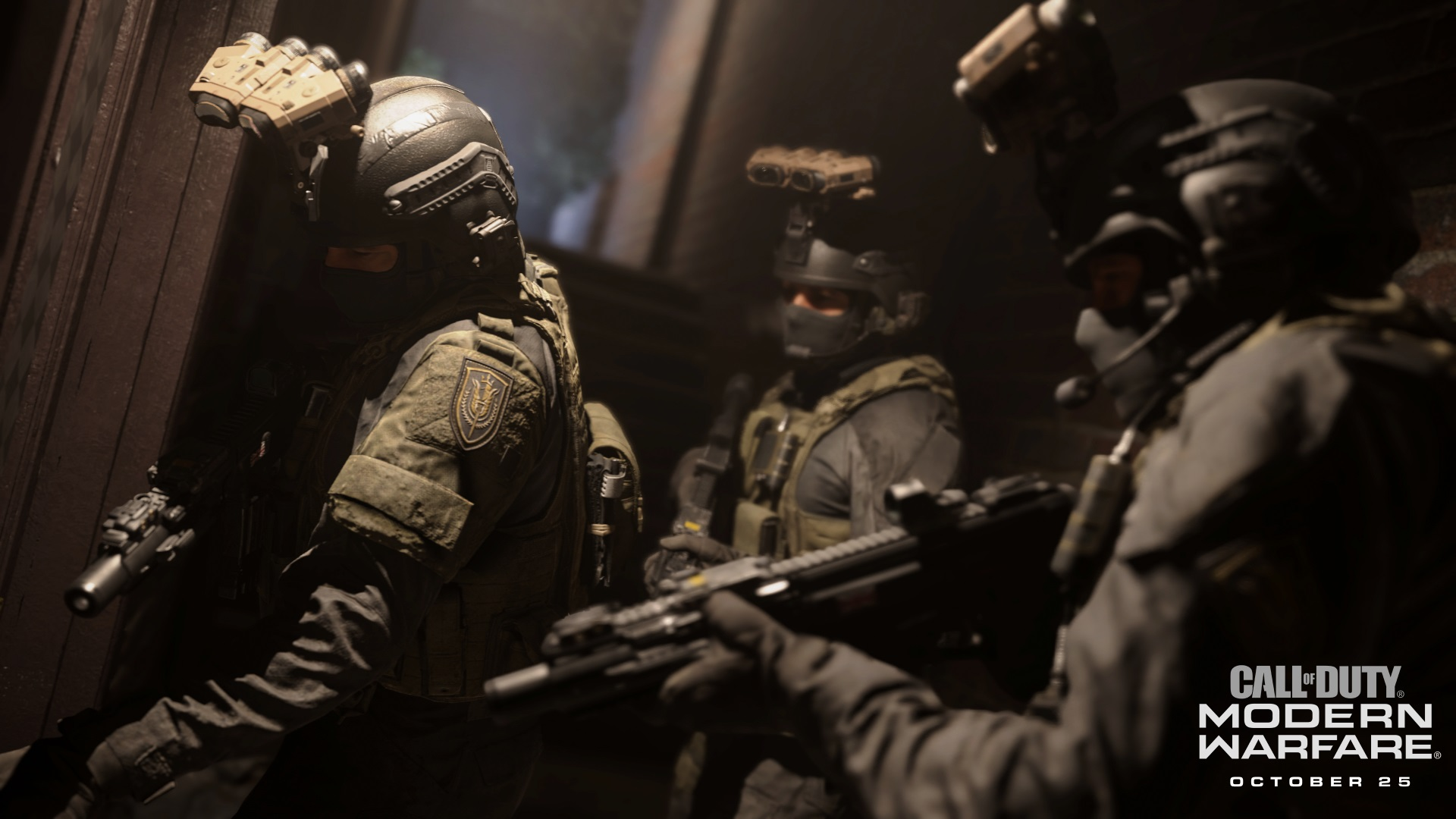 "The ""Red Crown"" mission opens with you and your squad about to don some intense night-vision goggles before storming an apparent terrorist compound. Not seen in this image: how freaking <em>brutal</em> the resulting mission becomes."