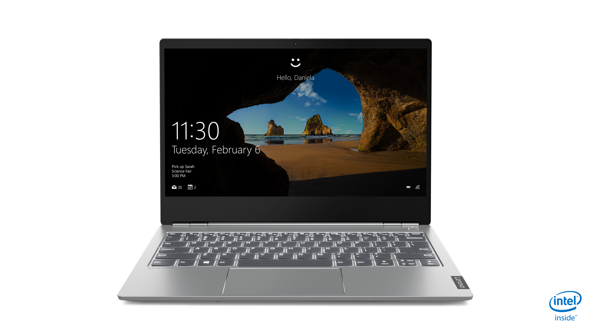 Lenovo ThinkBook 13s front view.