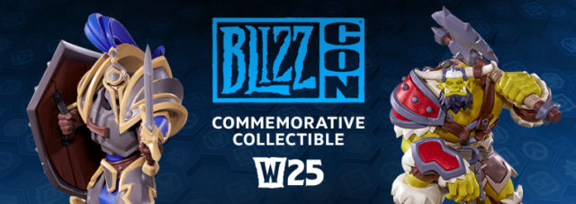 One reason BlizzCon tickets sell out so quickly is that they come with limited-edition goodies, both physically and in-game. This year, attendees can claim one of two physical statues, thus pledging their allegiance to either the Alliance or the Horde.