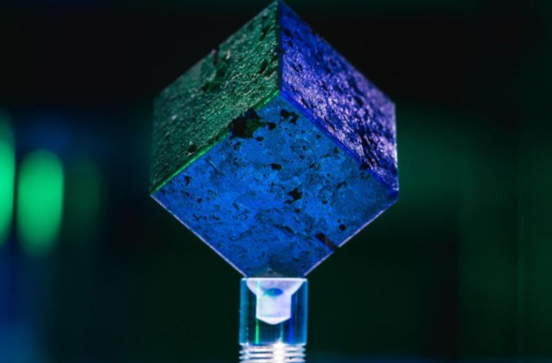 This is one of the 664 uranium cubes from the failed nuclear reactor that German scientists tried to build in Haigerloch during World War II.