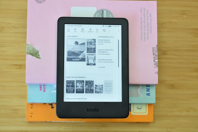 The Amazon Kindle ebook reader.