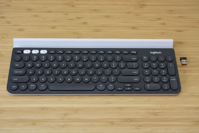 The Logitech K780 is a recommended wireless keyboard for those who work across multiple screens.