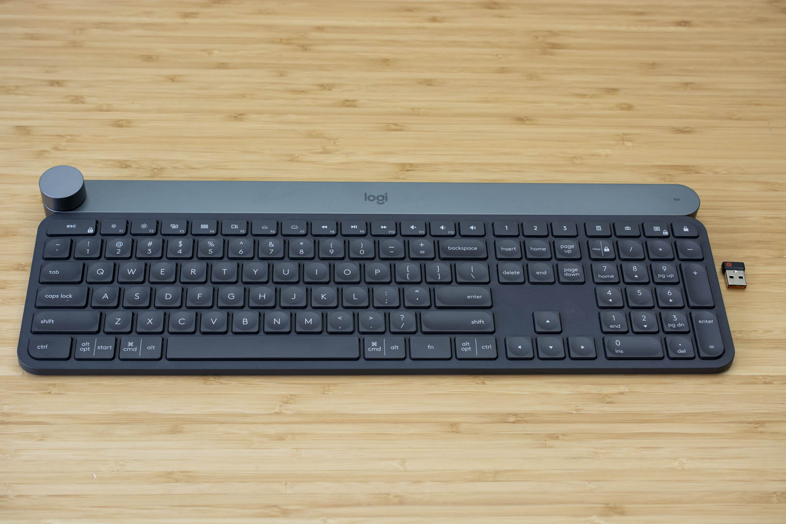 The Logitech Craft keyboard.