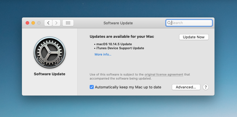 Remember that macOS software updates are now in the System Preferences panel, not the App Store, in Mojave.