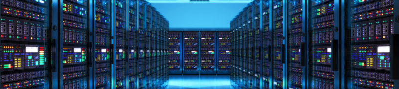 The kinds of Azure server racks that could soon play host to Sony content under a recent cooperation deal.