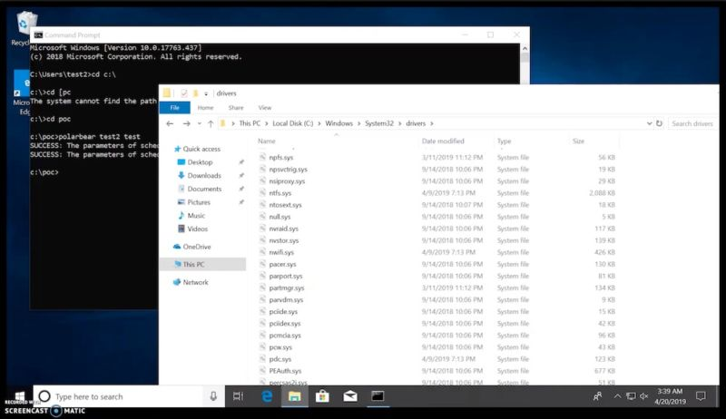 Screenshot of Windows Explorer