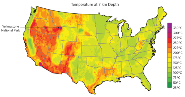The highest temperatures are found out West, but these aren't the only places where geothermal techniques can be applied.