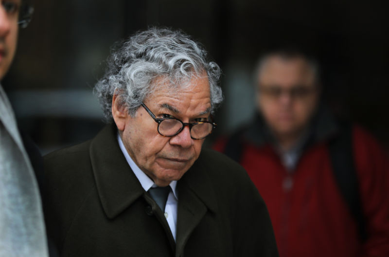 Insys Therapeutics founder John N. Kapoor leaves federal court in Boston on March 13, 2019.