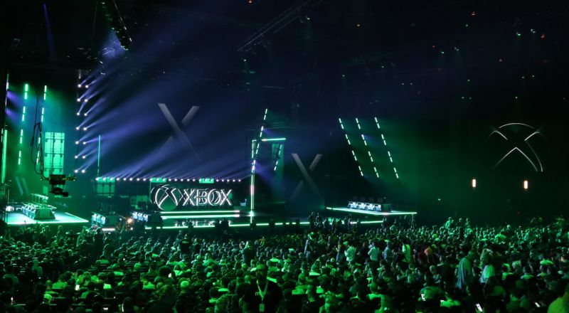 Moments before the beginning of the Xbox press conference at E3 2019.