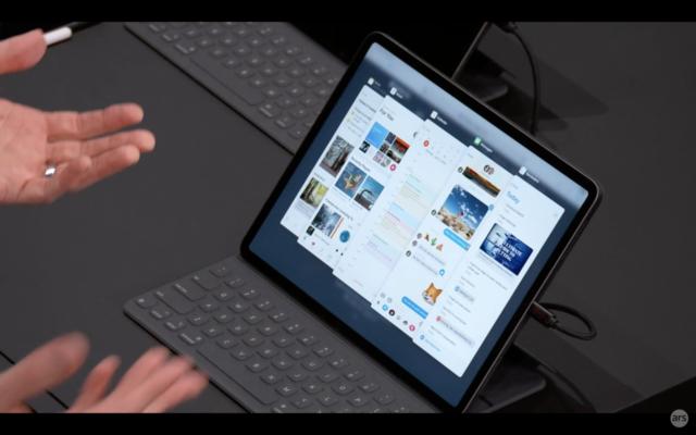 """iPadOS, coming """"this fall"""": Thumb drives, more gestures"""