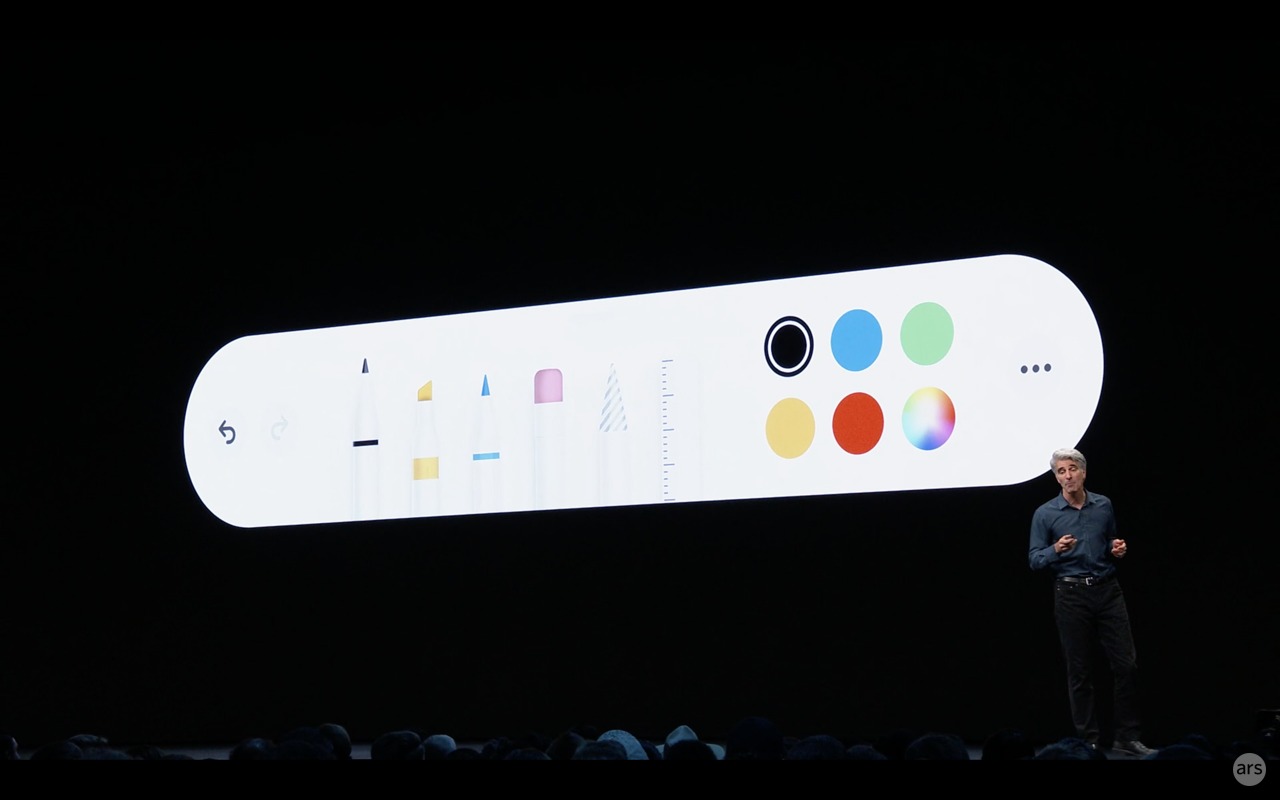 iPadOS' new Apple Pencil interface can be dragged, moved, and shrunk anywhere on your iPad screen.