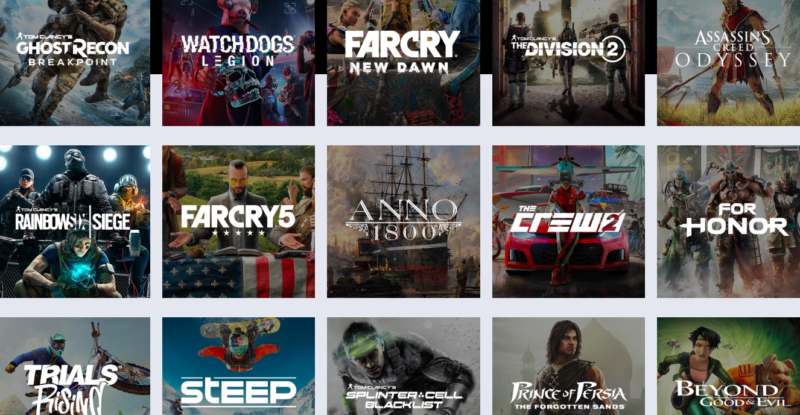 Just a few of the titles and franchises coming to Ubisoft's UPlay+ service.