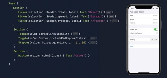 Working with SwiftUI, from Apple's developer sessions at WWDC 2019.