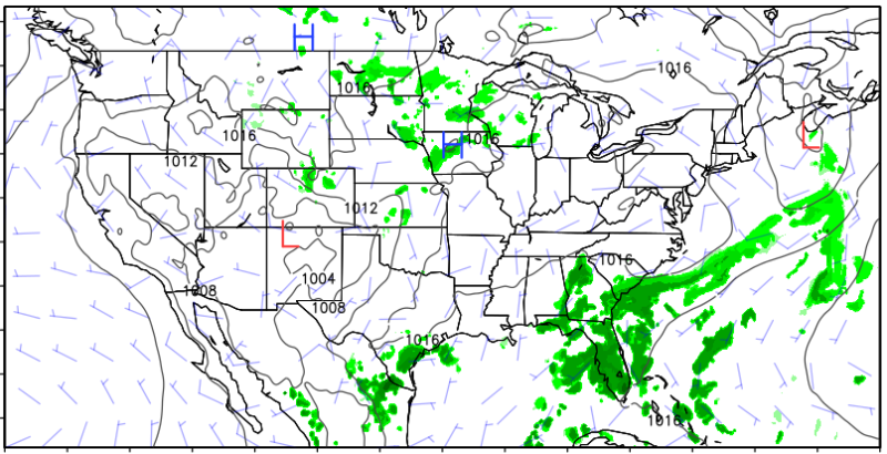 The Long Awaited Upgrade To The Us Weather Forecast Model Is Here - Us-map-weather-forecast