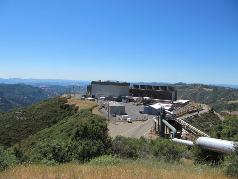 Sonoma Power Plant at The Geysers in California.