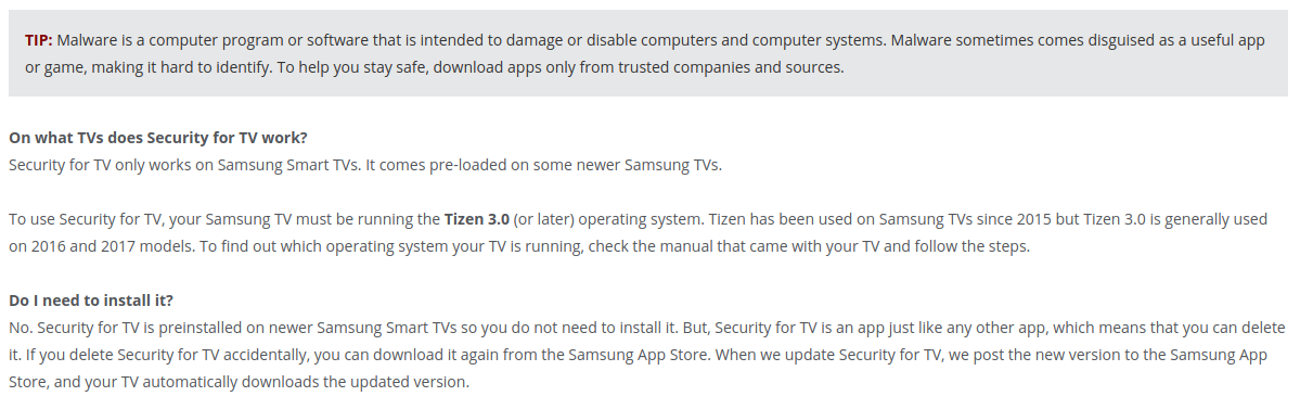 Welcome to the future. You can't have a jetpack, but here's some third-party antivirus for your television. Enjoy!
