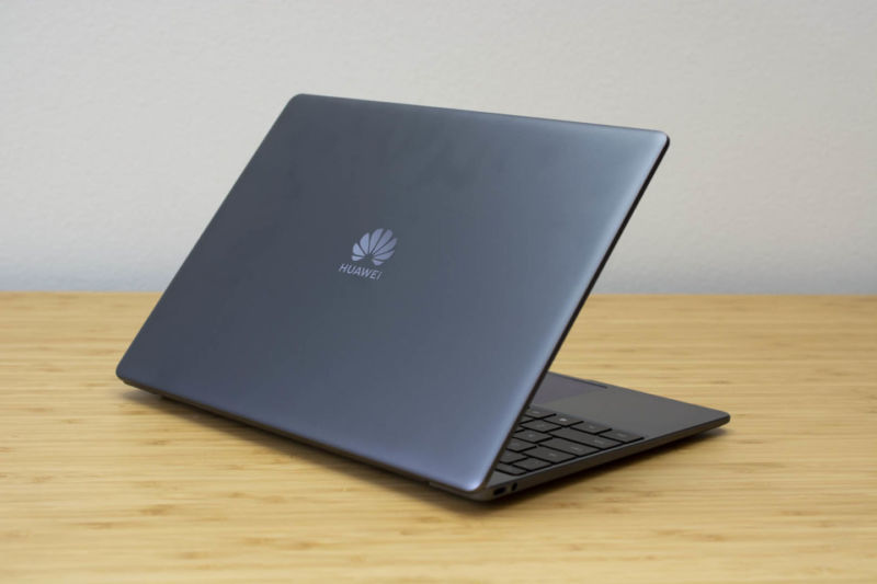 Huawei's Matebook 13, a laptop that was released in January 2019.