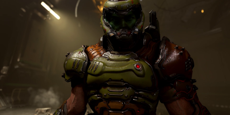 DOOM Eternal gameplay world premiere: Devil horns in the air—literally