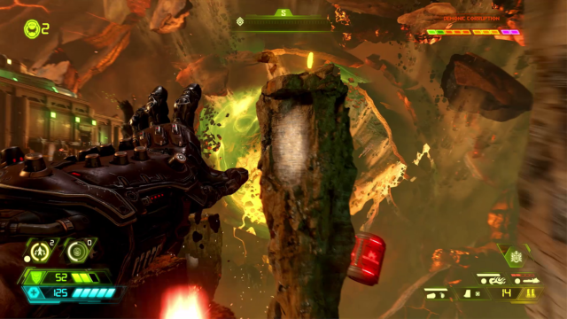 DOOM Eternal gameplay world premiere: Devil horns in the air
