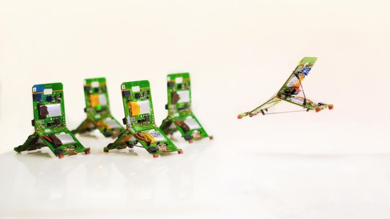 Image of trefoil-shaped electronics.