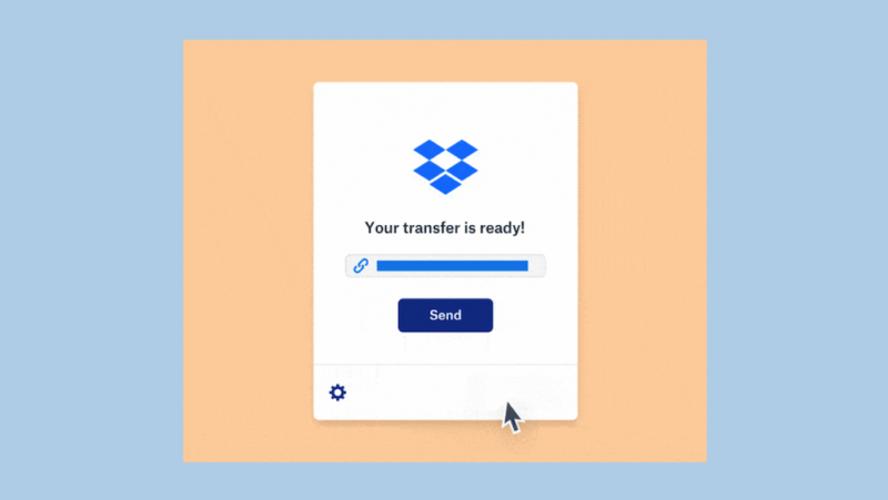 Screenshot of Dropbox Transfer